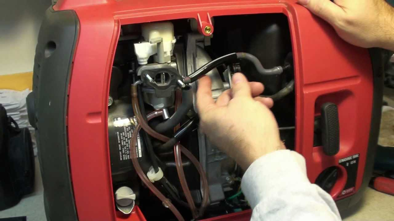 Honda EU2000i Fuel Problem  YouTube