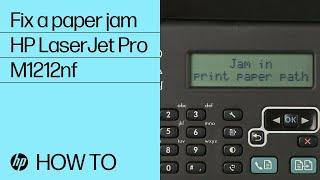 Fixing a Paper Jam | HP LaserJet Pro M1212nf | HP
