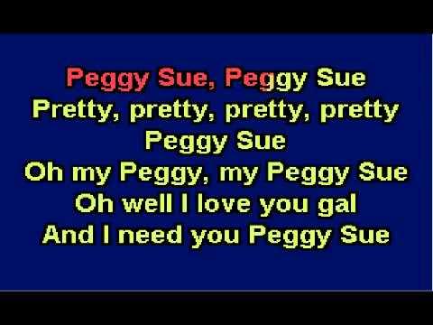 YouTube   Peggy Sue   Buddy Holly   Karaoke wmv