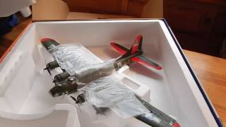 e flite umx b17 flying fortress unboxing