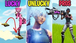 I dOnT fEeL sO gOoD... LUCKY vs UNLUCKY vs PROS - Fortnite Funny Moments (Battle Royale)