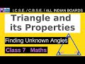 Gambar cover Triangle and its Properties ll Finding Unknown Angles ll class 7 Maths