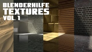 blenderHilfe Textures Vol. 1 - Produktionsvideo #1