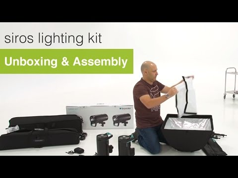Unboxing & Assembly - Broncolor Siros Lighting Kit Review.