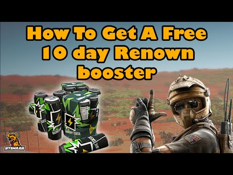 How To Get A Free 10 day Renown booster Using Ubisoft club credit Rainbow Six Siege
