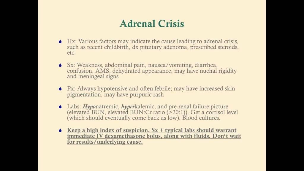 Acute Insufficiency Adrenocortical