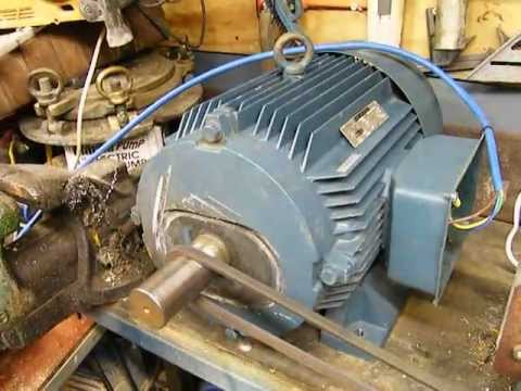 25hp 3 phase motor run from single phase! can it be done ? cheap 3 ...