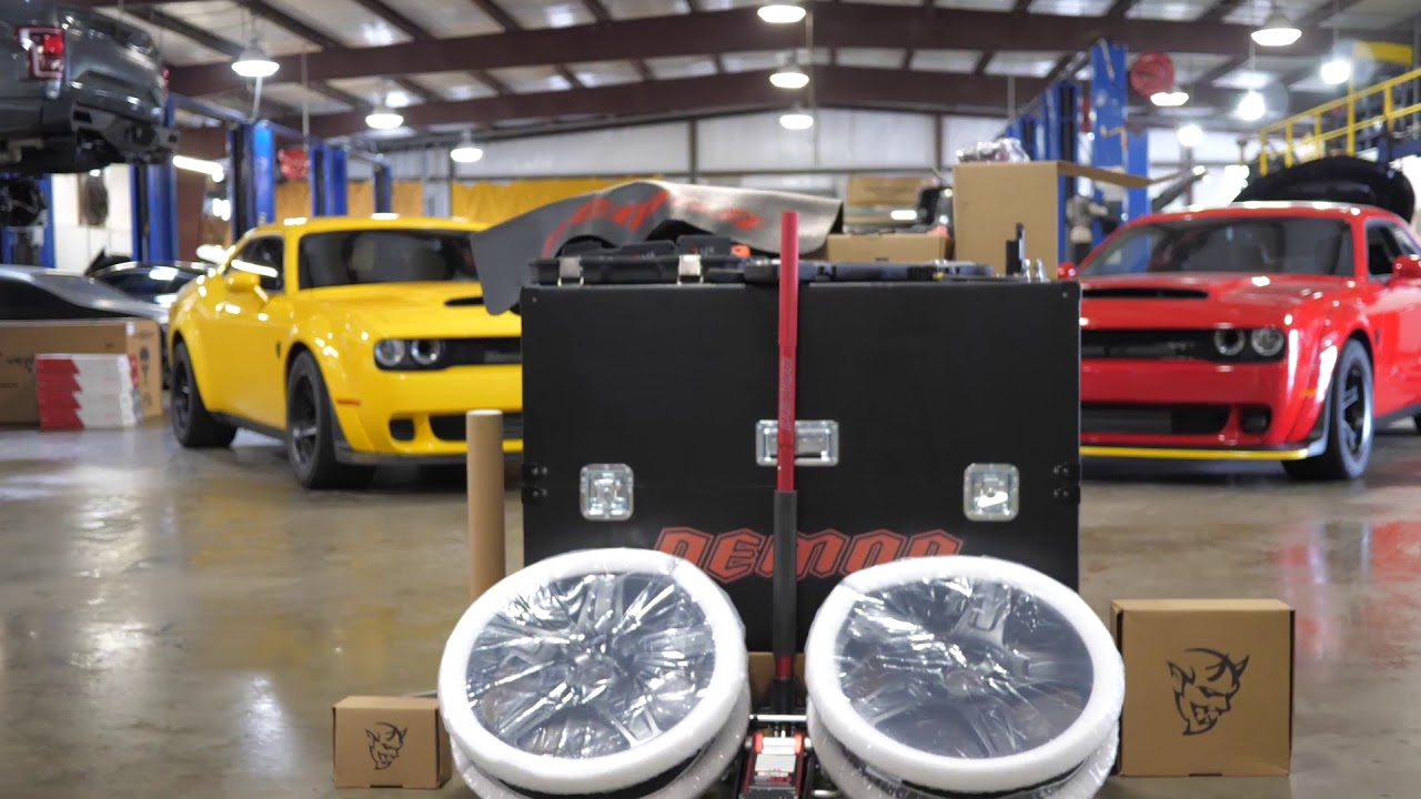 Demon Crate Unboxing at Hennessey Performance