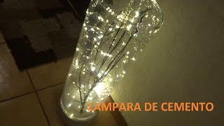 LAMPARA DE CEMENTO Y CRISTAL | Totyps