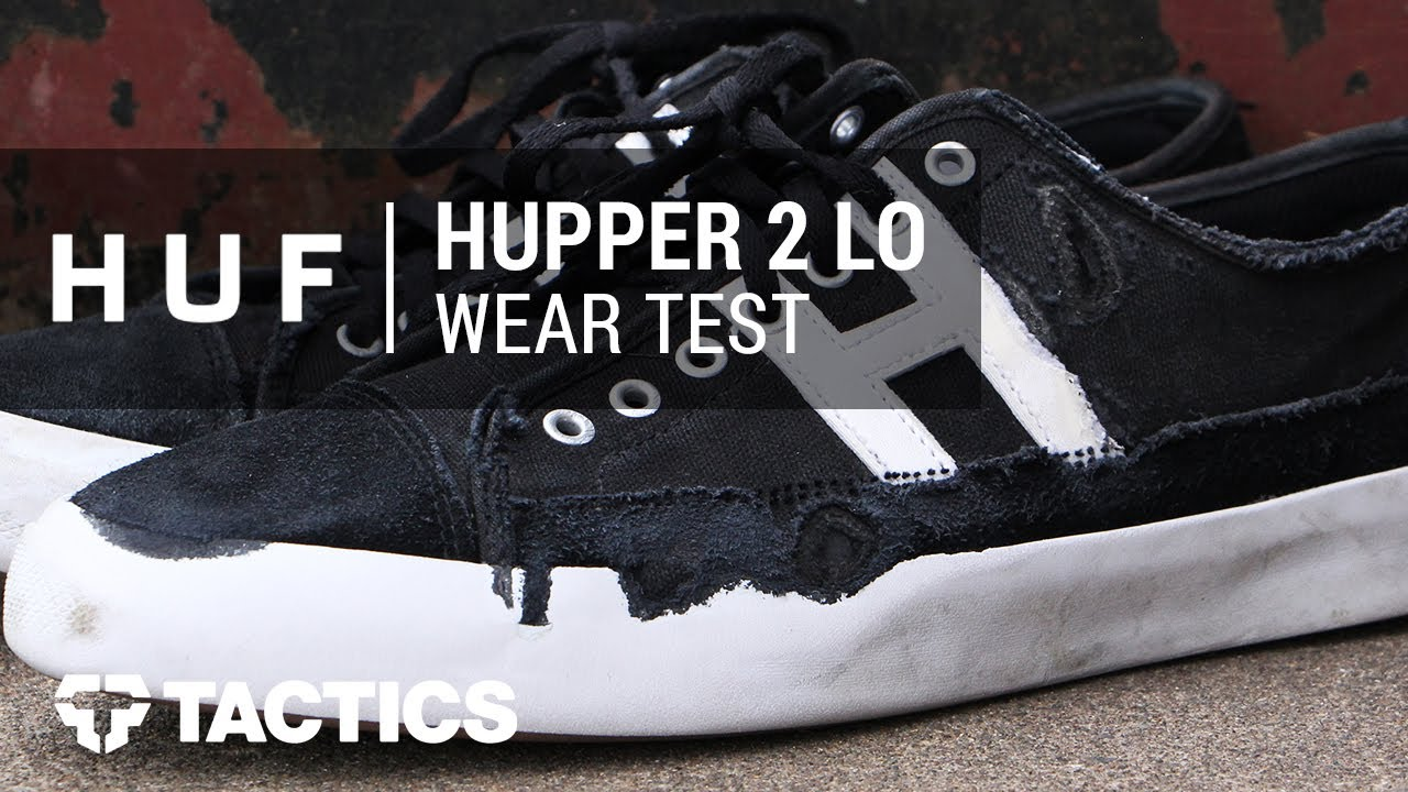 b285dedfd5 HUF Hupper 2 Lo Skate Shoes Wear Test Review - Tactics.com - YouTube