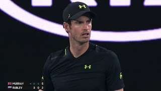 A strange crowd calls Murray serve OUT as Linesman | AusOpen 2017