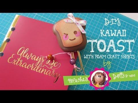 Kawaii Toast Paper clip - DIY - 3d Foam Craft