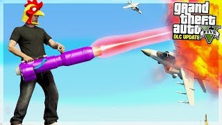 NEW ALIEN LAZER MINI GUN IN GTA 5!!  (GTA 5 DLC UPDATE)