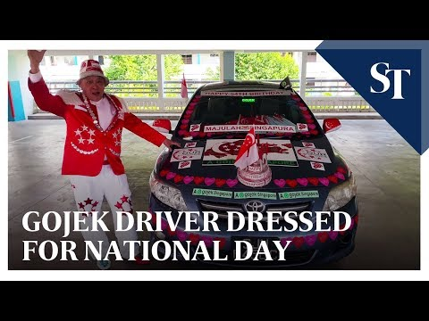 Driving home the National Day message with car and
