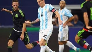 Lionel Messi vs Mexico - International Friendly - Mexico vs Argentina 2-2