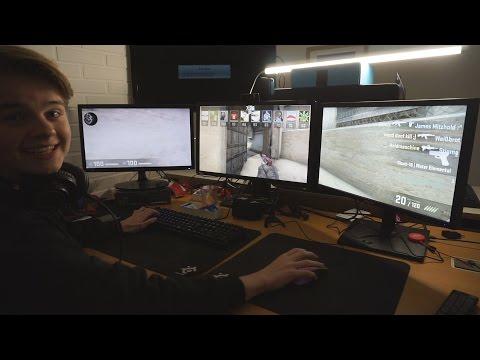 [DK] COUNTER-STRIKE PÅ 3 SKÆRME?! | Nvidia Surround GTX 1080!