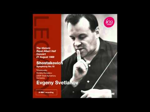 Evgeny Svetlanov - Shostakovich- Symphony No.10 2nd Mov