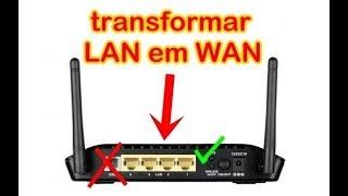 TRANSFORMAR MODEM WIFI EM ROTEADOR: modem ou roteador com wan queimada.