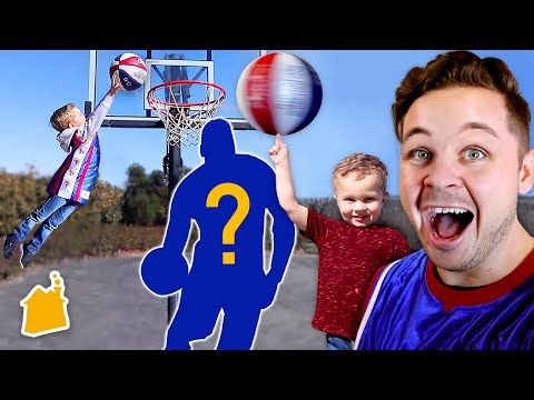 Family Dunk Contest! 🏀 (w/ Mystery Basketball Players!)