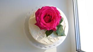 Живые цветы в торте 💐 как безопасно изолировать цветы💐 decorating cake with flowers #янабенрецепты