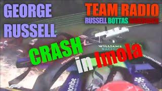 George Russell and Valtteri Bottas Imola 2021 crash on-boards [audio warning 01:05]