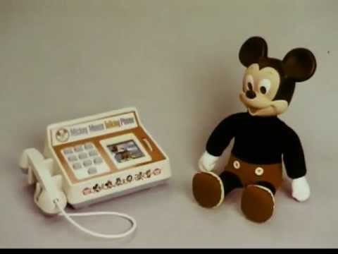 c597e5d9abebe8 Hasbro - Romper Room - Mickey Mouse Talking Phone - Vintage Commercial -  1970s
