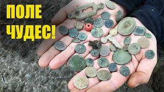Класні знахідки з одного поля Пошук коп монет 2021 в Україні з металошукачем