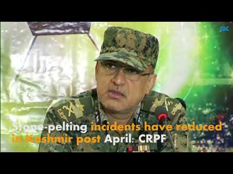 Stone-pelting incidents have reduced in Kashmir post April: CRPF