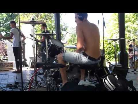 Sincerity - destiny (Drum Cam Jack Handford) Live @ brenchley gardens 2012