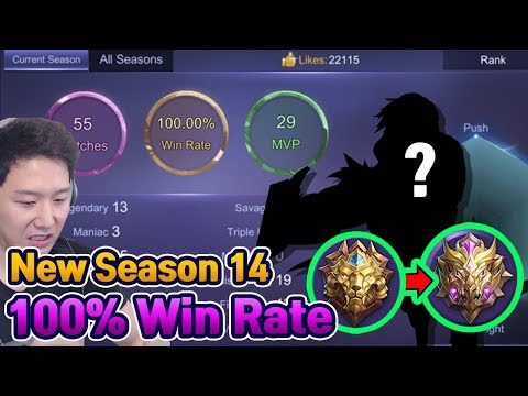New Season Mythic Win Rate100% Hero