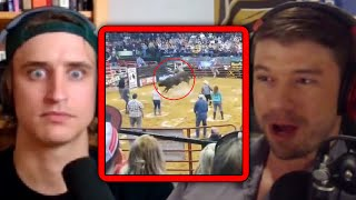 PKA Reacts to a Man Getting KNOCKED OUT by a Bull at a Rodeo