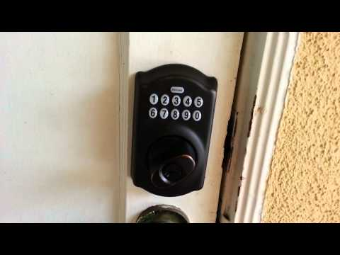 schlage keypad lock manual be365