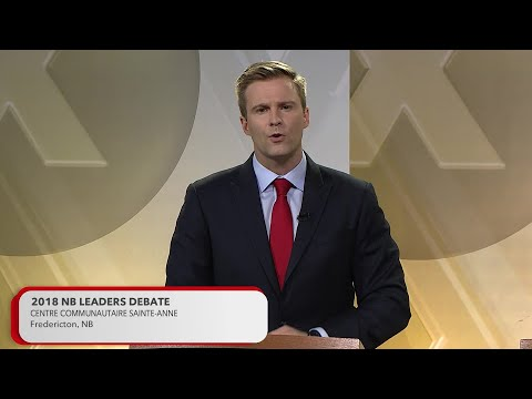 2018 New Brunswick Provincial Election Leaders Debate