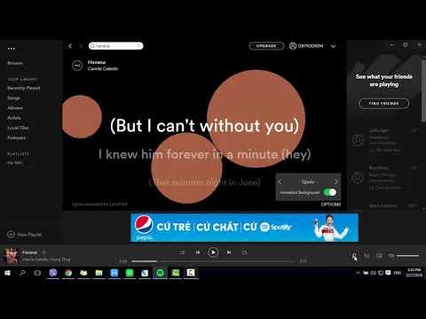Cách Bật Lời Bài Hát Với ứng Dụng Spotify Trên Máy Tính