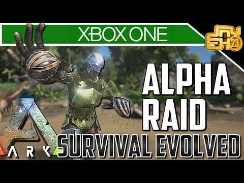 ARK XBOX PVP OFFICIAL SERVER - ALPHA TRIBE RAID DEFENCE!!