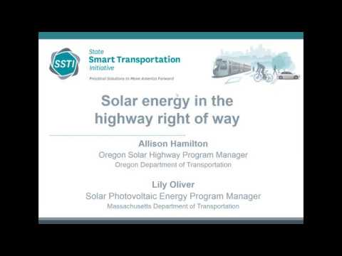 Solar energy in the highway right of way