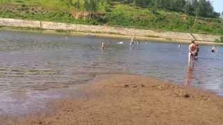 Пляж на реке Вятка (город Киров)