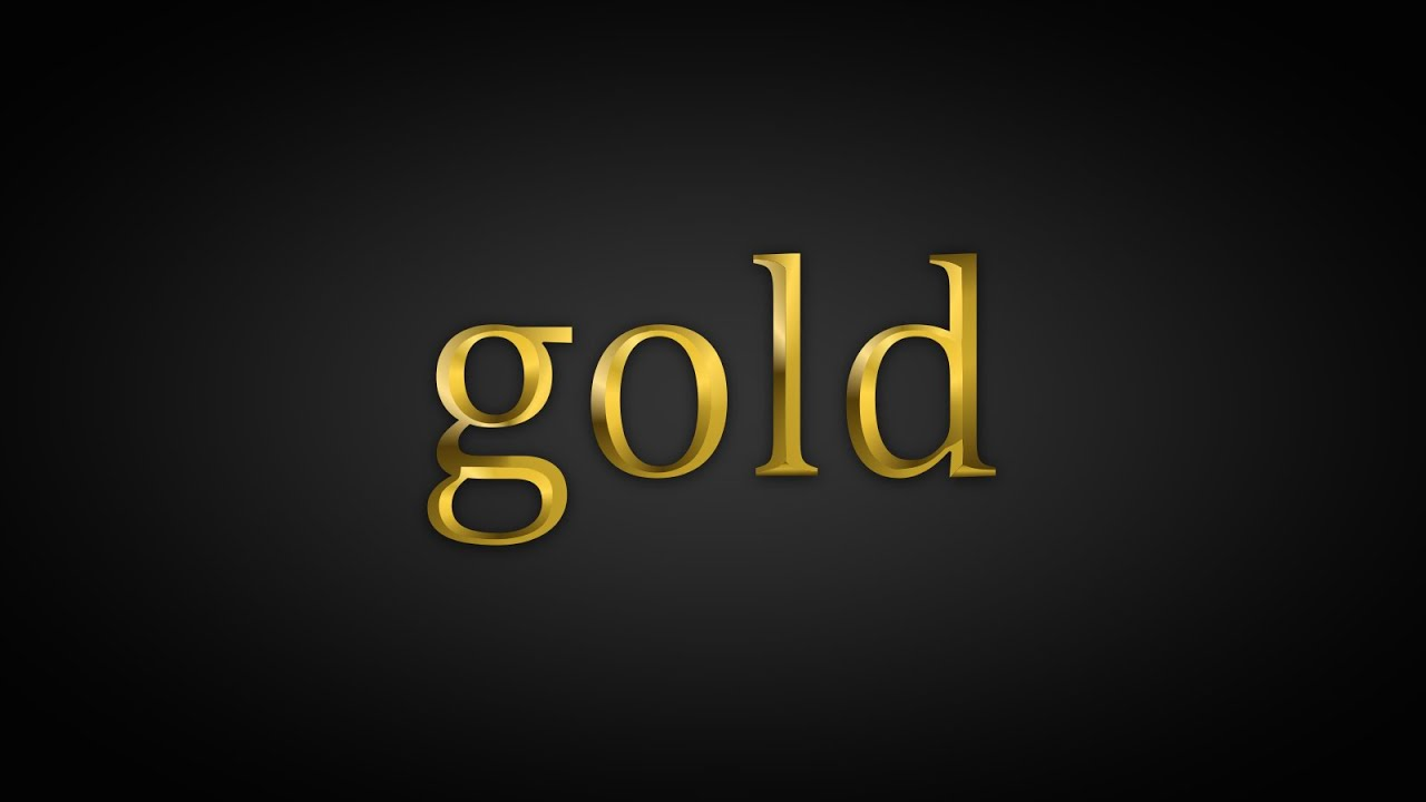 Coreldraw How To Make A Gold Text Effect In Corel Draw