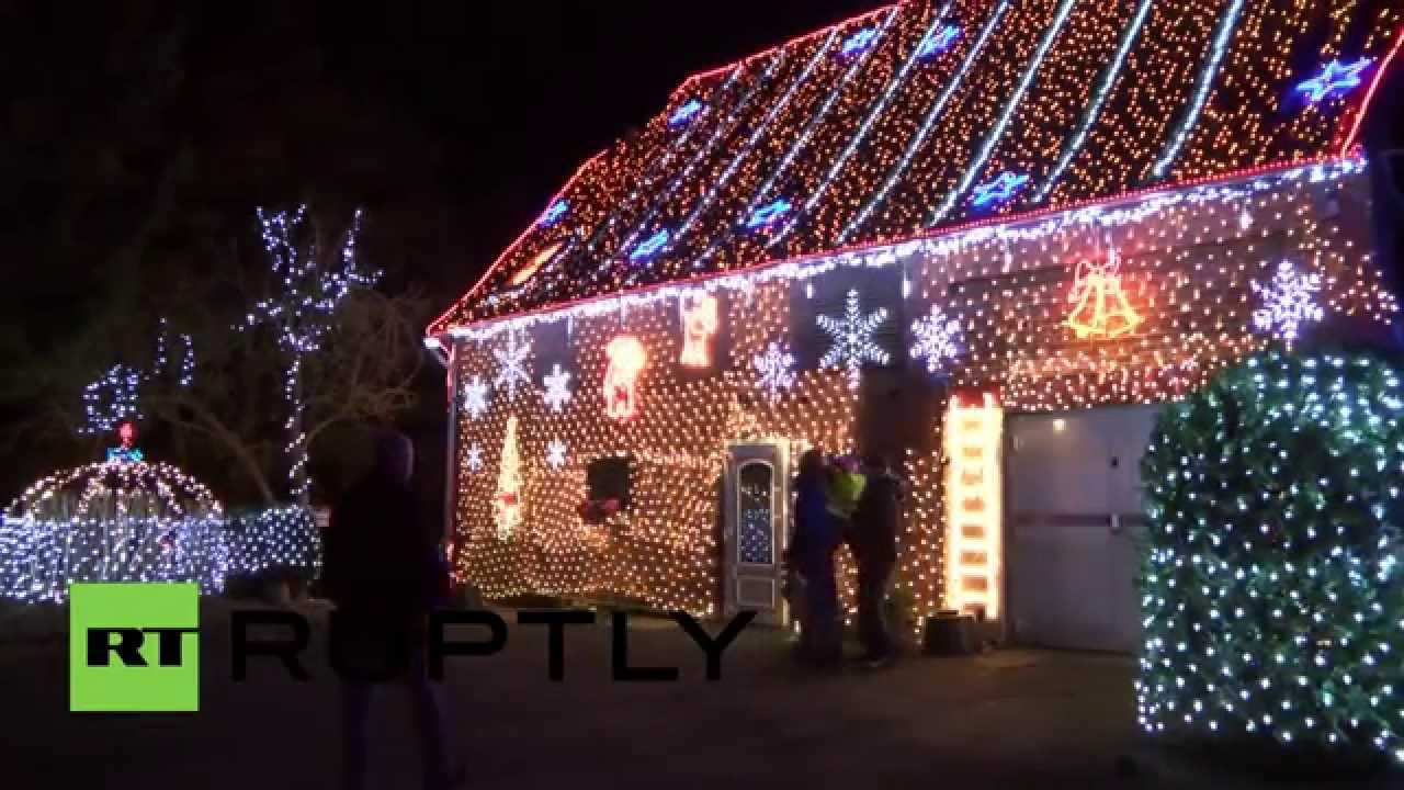 germany see drone footage of this house sparkling with 450000 xmas lights - Sparkling Christmas Lights