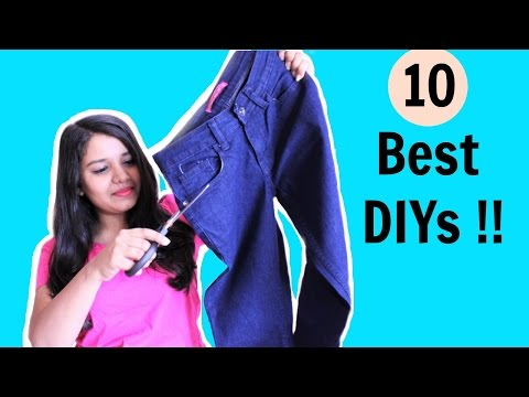 10 DIYS from OLD JEANS | Recycle / Reconstruct Old Denim. ( Must Try DIYS this Holiday )