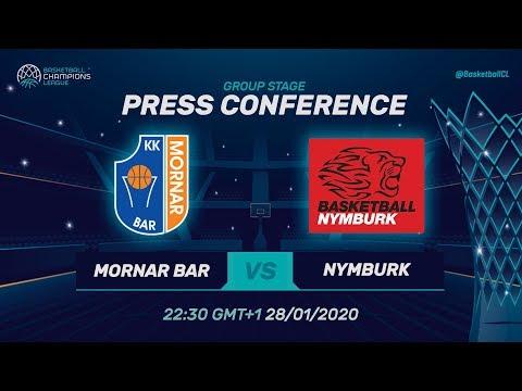 Mornar Bar v ERA Nymburk - Press Conference - Basketball Champions League 2019-20