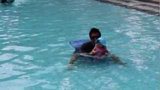 Vy's first swim in a pool Thumbnail