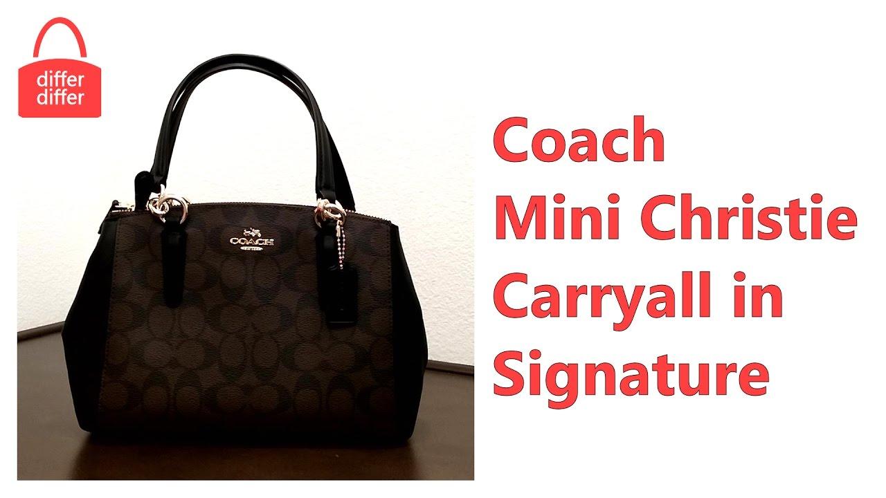 9bc7ffc1d Coach Mini Christie Carryall In Signature 58290 - YouTube