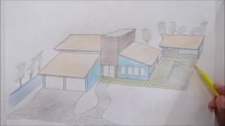 Desenhando uma casa - desenho rápido casa - (  home design )