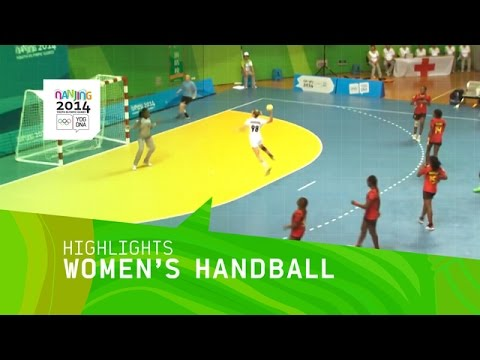 Women's Handball Angola vs Russia - Highlights | Nanjing 2014 Youth Olympic Games