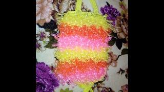 Вязание мочалки часть 1