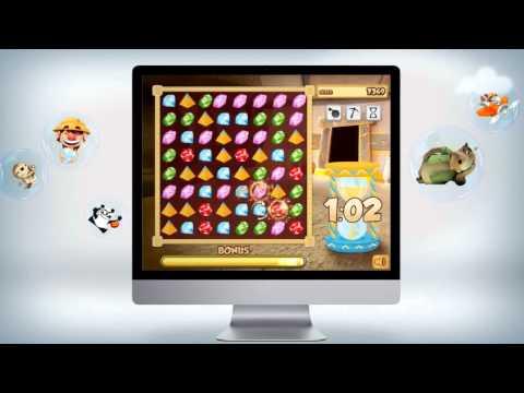 Diamonds Quest - Games Passport - Jeu gratuit de match3 en ligne