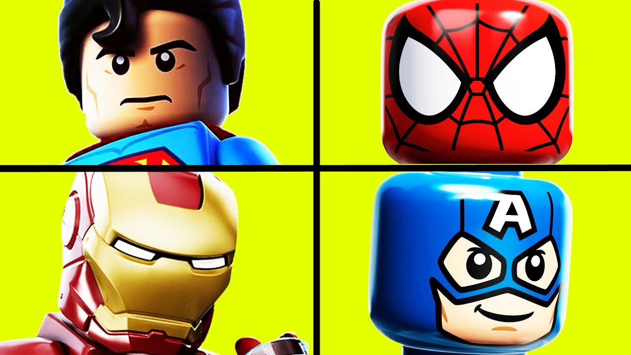 Charming Lego Batman, Spiderman, Superman, Ironman LEGO Movie Epic Videos By  Funtastictoys4kids   YouTube