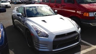 2012 Nissan GT-R Black Edition Start Up, Quick Tour, & Rev With Exhaust View - 31 Miles