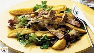 Steak and chips salad